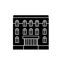 dwelling house black icon concept dwelling house vector image