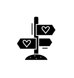 favourite directions black icon sign on vector image
