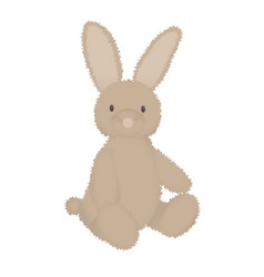 fluffy bunny cute image stuffed toy animal vector image