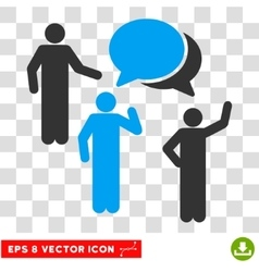 Forum Persons Eps Icon vector image