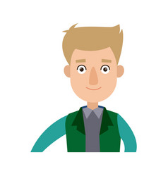 Funny cartoon guy in formal clothes gesturing vector
