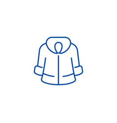 fur coat line icon concept fur coat flat vector image