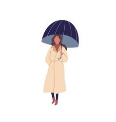 girl with umbrella flat vector image