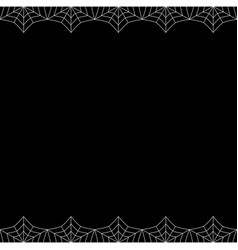 Halloween square double up and down spiderweb vector