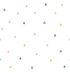 hand drawn colorful triangles seamless pattern vector image