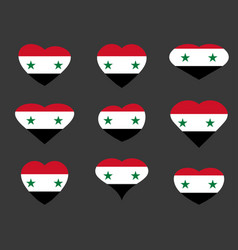 Hearts with the syrian flag i love syria syria vector