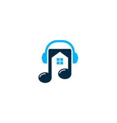 home music logo icon design vector image