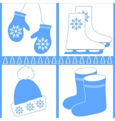 image winter icons vector image