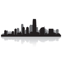Jersey city usa skyline silhouette vector