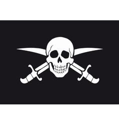 Jolly Roger Black vector image