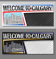 layouts for calgary vector image