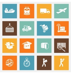 Logistic Services Pictograms Collection vector image