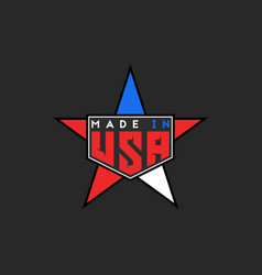 Made in usa logo in form star united states of vector