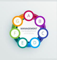 management steps circle infographic template in vector image