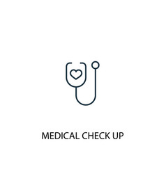 Medical check up concept line icon simple element vector