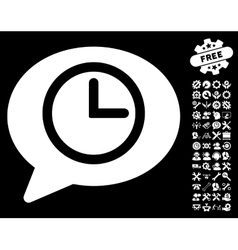 Message Time Icon with Tools Bonus vector