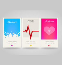 modern colorful vertical medical banners abstract vector image