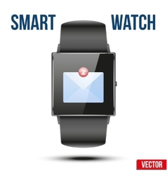 New Mail received Notification on Smart watch vector image