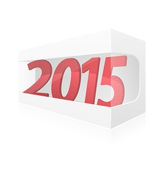 new year packing box vector image