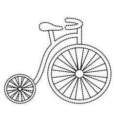 old fashioned bike vector image