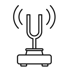 Physics sound stand icon outline style vector