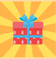 present in box decorated vector image