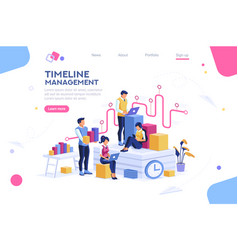 Presentation with isometric people vector