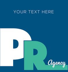 Public relations pr banner design vector