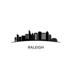 raleigh city skyline black cityscape vector image