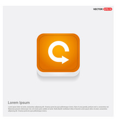 Reload icon orange abstract web button vector