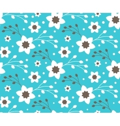 Seamless Bright Fun Abstract Spring Flower Pattern vector image
