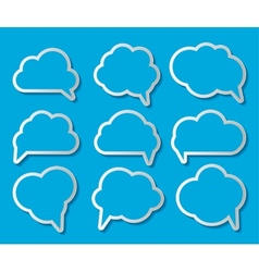 Set of Cloud Shaped Speech Bubbles vector