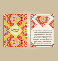 set of colorful brochure templates vector image