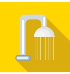Shower spray icon flat style vector image