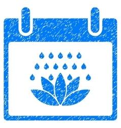 Spa Shower Calendar Day Grainy Texture Icon vector