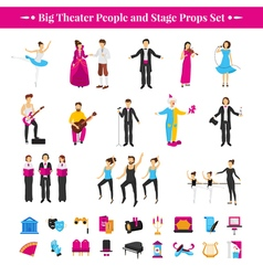 Stage Props Set vector image