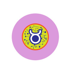 Stylish icon in color circle zodiac sign taurus vector