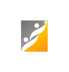 Success coaching logo design template vector