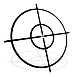 target symbol isolated on white accuracy target vector image