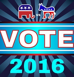 Usa Election 2016 Elephant versus Donkey Banner vector image