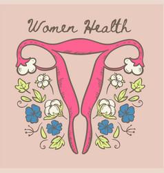 Womens health organic natural materials ill vector