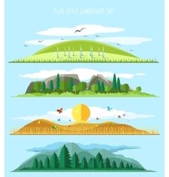 flat forest landscape vector image