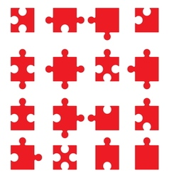 Puzzle set3 vector image