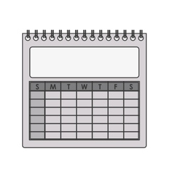 silhouette gray scale calendar with spiral vector image vector image