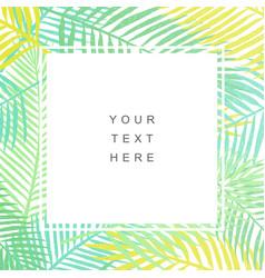 tropical leaves background modern design vector image vector image