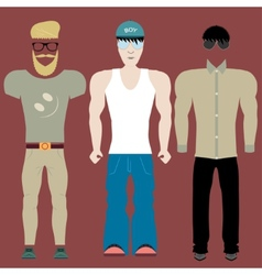 Clothing styles vector image