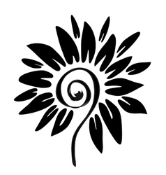 Hiqh quality flower pattern for coloring tattoo vector image