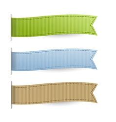 Pastel Web Ribbons Set vector image