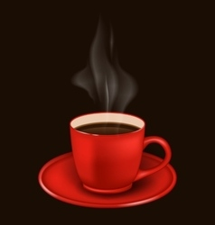 Red coffee mug with vapor vector image vector image