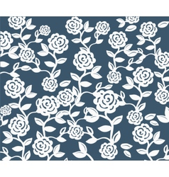 Roses vintage seamless pattern on pink vector